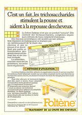 Publicité Advertising 1982  Foltène Traitement de la chute des cheveux