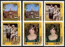 Granada 1982 SG#1188-1193, 21st Cumpleaños de princesa de Gales estampillada sin montar o nunca montada Set #D32826
