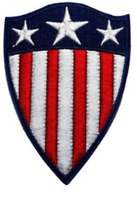 """Captain America Shield Iron On Patch 4"""" x 3"""" Free Ship by Envelope Mail"""