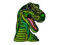 ♥Aufbügler♥Bügelmotiv♥Applikation Patch♥ Tyrannosaurus Rex Aufnäher Dino NEU♥