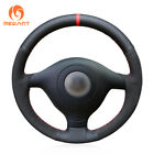 Suede Leather Steering Wheel Cover for VW Golf 4 Polo Passat B5 Seat Leon #DZ147