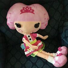 """LalaLoopsy Plush Pajama Bag Doll Pillow 27"""" Jewel Sparkles Zipped For Pj's EUC"""