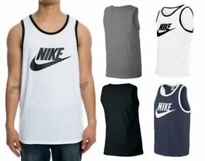 Mens Vest Top Logo Sports Gym Active Wear Tank Top T shirt