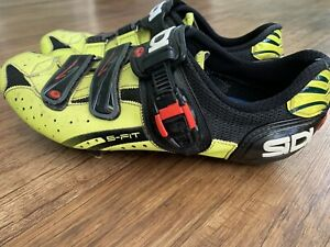 Sidi Genius 5 Fit CARBON SPD cycling shoes UK 10 EU 45 black flour yellow