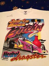 Vtg 90s Racing t shirt SIGNED Jeanie Booz Bitchin NHRA Top Alcohol Dragster Car