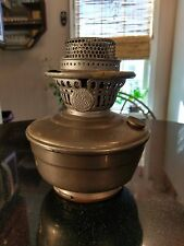 1930s Aladdin model 12 Nickel Plated Oil Lamp For Parts or Restore