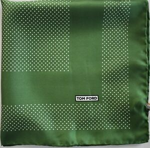 🆕️ NEW Authentic TOM FORD 100% SILK Pocket Square Pochette Handkerchief