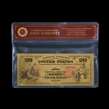 WR $20 1875 The First National Bank of Butte Gold World Banknotes for Sale / COA