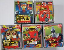 Bandai Gaiking & Robocon Getter 2 Chogokin GASHAPON Figure Popy  Part 4 Set of 5