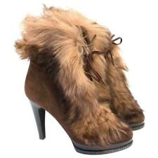 Ralph Lauren Purple Collection boots heels  shoes shearling lamb 8 8.5 9 EU 39