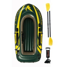 2018 Model Intex Seahawk 2 Man Inflatable Dinghy Boat + Oars + Pump #68347