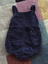 Baby Boy Babystyle Suspenders Navy Shorts Size 0-6 Month