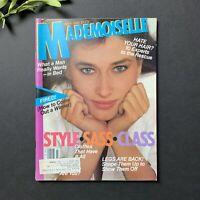 Vintage JULY 1981 MADEMOISELLE Magazine Women's Fashion Beauty Great Ads 1980's