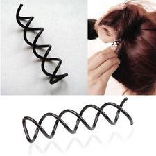 10 Stücke Frauen Spiral Spin Screw Bobby Pin Haarspange Twist Haarspange Schwarz