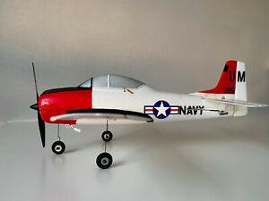 E-flight horizon hobby RC Parkzone airplane UMX T-28 Trojan Warbird AS3X Navy