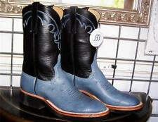 Anderson Bean Blue Jean Smooth Ostrich Crepe Sole Cowboy Boots 8.5 B Ladies 9.5