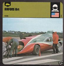 ART ARFONS & THE GREEN MONSTER LSR 1978 PHOTO SPEC CARD