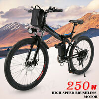 26'' Electric Bike Foldable Mountain Bicycle Ebike 21Speed 36V with Li-Battery