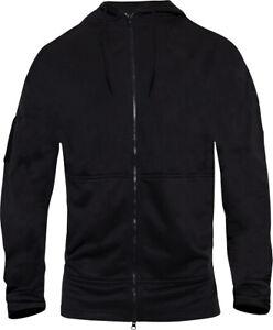 Black Concealed Carry Zippered Hoodie Full Sleeve Sweatshirt