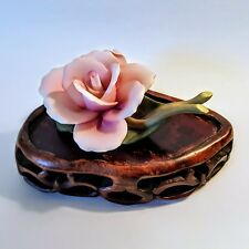 Lefton Bisque Porcelain Roses Figurine No. 00424 Pinks And Greens 1970s China