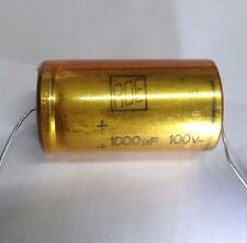 ROE 1000uf 100v axial; lead DIN-41-316 vintage electrolytic capacitor gold serie