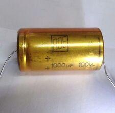 ROE 1000uf 100v axial; kabel DIN-41-316 retro elektrolyt kondensator gold serie