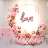 ATFUNSHOP Balloon Arch Kit 117PCS 5M Latex Balloon Garland Kit with Rose Gold