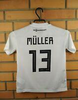 Muller Germany Jersey 2018 2019 Youth 9-10 Shirt BQ8460 Football Adidas Trikot