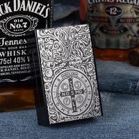 New Constantine Aluminum Metal Cigarette Case Holder Holds 20 Cigarettes Black