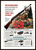 1955 WINCHESTER Model 88 Rifle Vintage PRINT AD Whitetail Buck