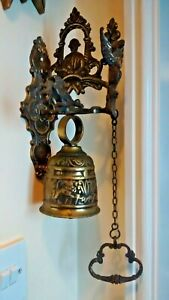 Vintage Brass Wall Mounted Monastery Bell
