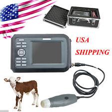 Vet Portable Smart Digital Ultrasound Scanner Machine Rectal Probe Cow Horse Usa