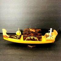 Vintage REUGE DANCING BALLERINA Gondola WOODEN Jewelry CASE MUSIC Box RARE