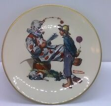 "Collector 8.5"" Plate Norman Rockwell Gorham ""Circus Clown"" 1978 Danbury Mint"