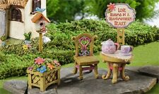 Fairy Miniature Set for Village From Grandmother 5 pieces resin gift new