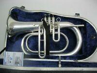 Marching Horn Schenkelaars  B -   inkl.Mundstück und Koffer