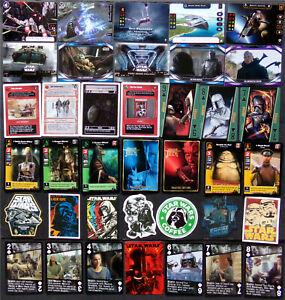 Star Wars Card Lot, Stickers, Boba Fett, Darth Vader, Mandalorian, Jedi, CCG TCG
