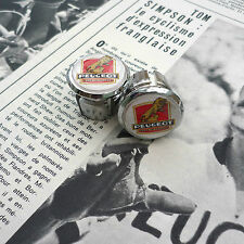 Vintage 70s Style Peugeot Chrome Racing Bar Plugs, Caps, Repro