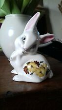 Vintage china rabbit cotton wool holder dispenser