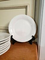 "SET OF 8* TABLETOPS VERSAILLES~White Salad Dessert 8"" Plates SWAGS EMBOSSED"