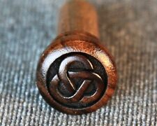 End Pin for Guitar, Bolivian Rosewood with Engraved Tri-Ring