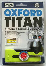 Oxford Titan Disc Lock OF51 Yellow Designed To Motorbikes.
