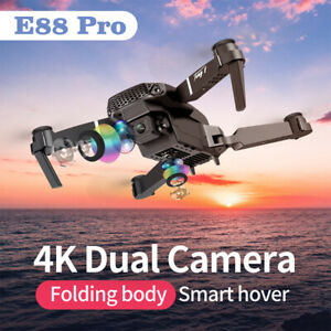 WIFI FPV Drone Selfie With HD 4K Dual Camera Foldable Arm RC Quadcopter Toy Gift