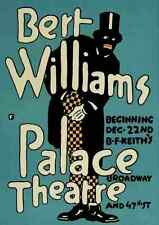 A4 Photo 1918 Bert Williams Palace Theatre Print Poster