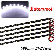 10x 60cm 2835 Flexible Car Motorcycle LED Strip Lights High Power Waterproof 12V