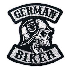 Aufnäher Aufbügler Patch German Biker Club MC Motorrad Custom Kutte Rocker Weste
