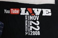 YouTube Live 'CREW; black 2 XL t shirt 2010