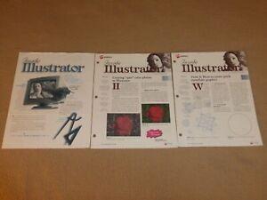 lot of 3 Inside Illustrator Newsletters 1998 Adobe Creative Graphics Art