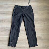ANN TAYLOR LOFT Womens Size 0 Julie Navy Pencil Ankle Dress Pants NWT Stretch