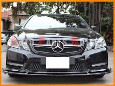 Carbon Fiber B Style Front Bumper Lip For M-Benz W212 E250 E350 E400 E550 10-13